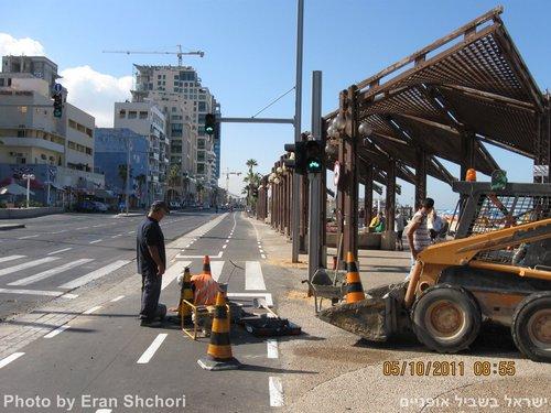 רמזור האופניים הראשון בישראל